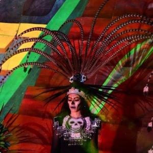 Algunas imágenes del espectáculo del Festival de la Luz y la Vida..